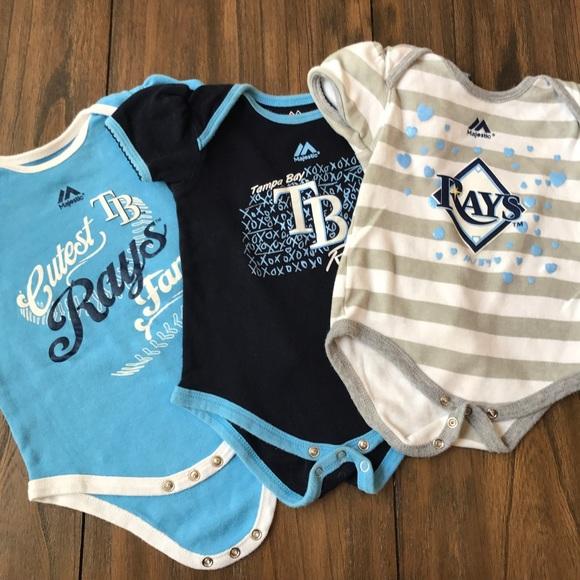 Bib and Cap Set Size 3-6 Months Piece Bodysuit Tampa Bay Rays MLB 3