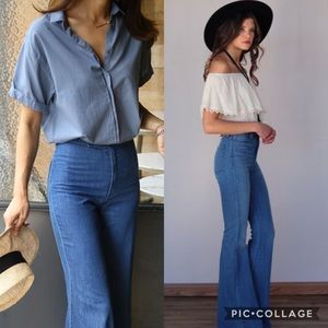 MOSCHINO  Vintage High Waisted Flare Jeans