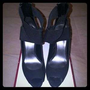 5 inch black shoes with ankle strap