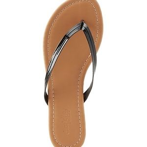 Seamed thong sandals