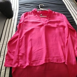 Lovely Pink chiffon sheer top