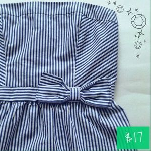 Gilly Hicks Tops - Gilly Hicks Striped Strapless Bow Top