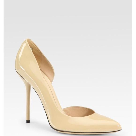 b60d34195c6a Gucci Noah Patent leather D Orsay stilettos. NWT. Gucci.  300  530. Size.  10.5. Buy Now