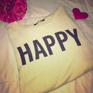 WILDFOX Happy Pullover Sweatshirt