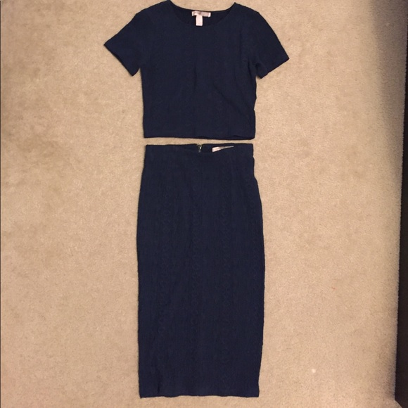 Forever 21 Dresses & Skirts - Forever 21 Contemporary Navy Knit 2 Piece