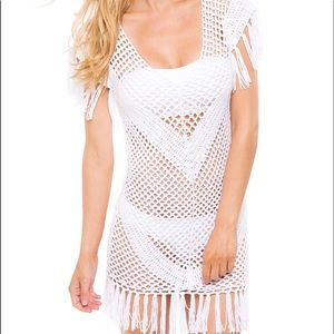 Melissa Odabash Other - Melissa Odabash crochet & fringe swim cover dress