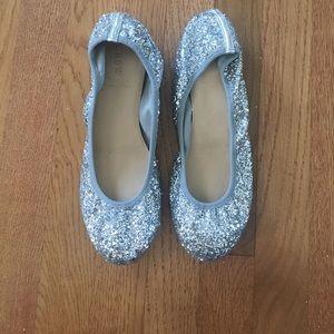 J. Crew Shoes - Glitter ballet flats