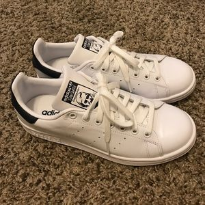 Adidas Shoes - BLACK AND WHITE STAN SMITHS SZ 8 MENS WOMENS 9