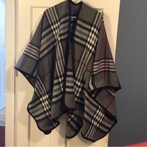 Ily Couture Sweaters - ILy Plaid Poncho