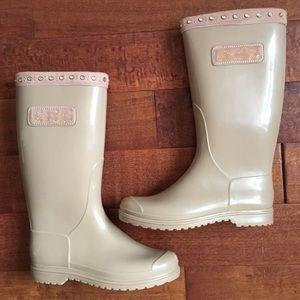 Miss Blumarine Other - Kids MISS BLUMARINE nude rhinestone rain boots