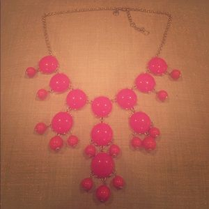 Authentic J.Crew Large Bubble Necklace - Pink EUC