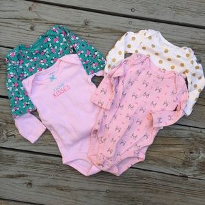 Other - Set of 4 Size 3 Month Long Sleeve Onesies