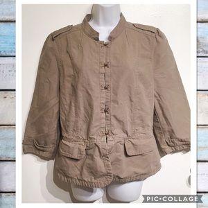 LOFT Jackets & Blazers - Ann Taylor LOFT Khaki Olive Lightweight Jacket