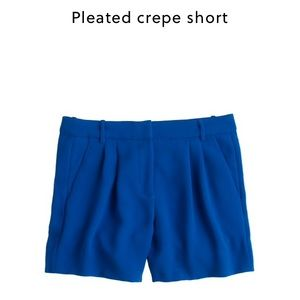 J. Crew Pants - J. Crew pleated crepe shorts in navy