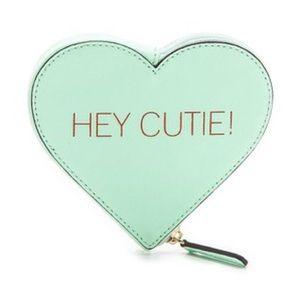 • Rebecca Minkoff mint green hey cutie pouch •