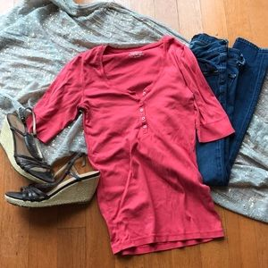 J crew perfect fit Henley t shirt