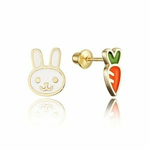 Other - HOST PICK 14k gold plated Carrot  Rabit Earrings