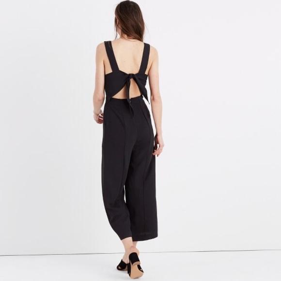 Madewell Dresses Lowest Apron Bow Back Jumpsuit Poshmark