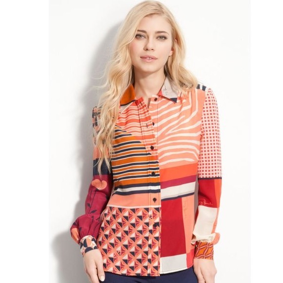 Tory Burch Tops - Tory Burch Angelique Print Blouse-Holiday attire