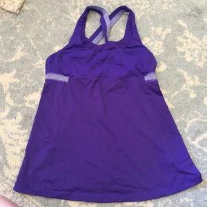 lululemon athletica Tops - Lululemon Purple Athletic Criss Cross Tank