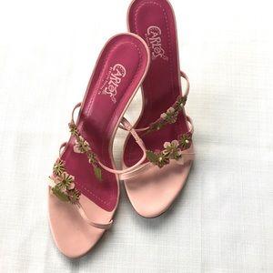 Carlos Santana Shoes - Carlos Santana pink and green sandals sz 10