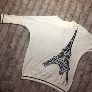 Catherine Malandrino Sweaters - Catherine Maladrino Eiffel Tower x Paris Sweater