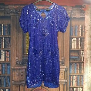 Vintage sequence beaded dress