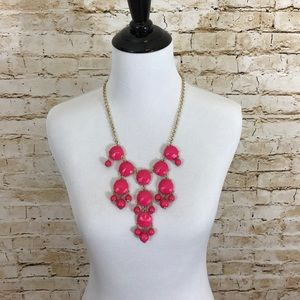 J.Crew hot pink bubble necklace