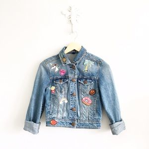 American Eagle Outfitters Jackets & Blazers - American Eagle Self Embellished Denim Jacket