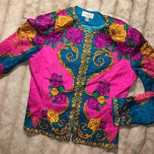 Adrianna Papell Tops - Vintage Adrianna Papell silk Blouse x Top x Blazer