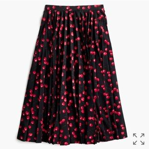 J. Crew Dresses & Skirts - NWOT! J Crew Pleated Midi Skirt in Cherry Print