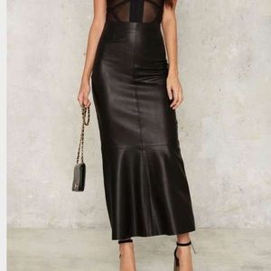 Nasty Gal Essex Vegan Leather Skirt