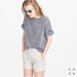 J. Crew Tops - J. Crew Striped Popover Sweater