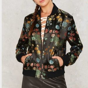 Nasty Gal In Season Jacquard Bomber Jacket