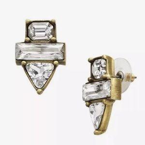 Silpada Crystal Clear Brass Earrings