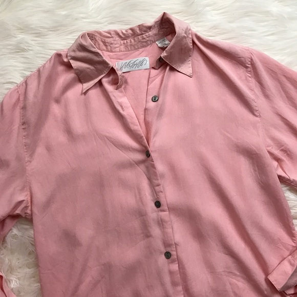 Lord & Taylor Tops - Lord & Taylor Silk Blush Pink Button Up Blouse