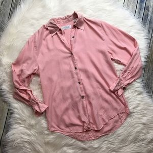 Lord & Taylor Silk Blush Pink Button Up Blouse