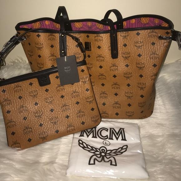 8dd9dc3bf MCM Bags | Project Visetos Reversible Tote Bag Cognac | Poshmark