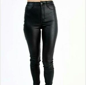 Dollskill wet look pleather liquid skinny pants