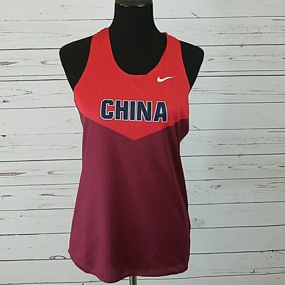 57df6ff389afcd Nike Women s China Running Singlet M Dri-Fit