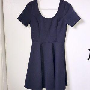 Dresses & Skirts - Finn & Clover Navy Skater Dress- Flattering!!