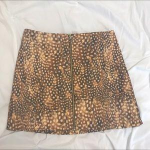 Topshop Dresses & Skirts - Topshop Deer Print Skirt