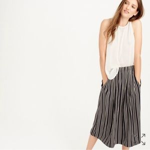 J. Crew Dresses & Skirts - J Crew Pleated Midi Skirt in Triple Stripe