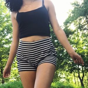 🌿 J. Crew Pleated Striped Shorts