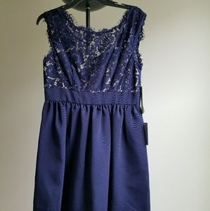 Eliza J Dresses & Skirts - Navy blue lace dress from Nordstrom
