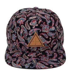 Black Scale Other - Black Scale Palm Trois Snapback Paisley Hat Cap