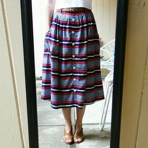 ASOS Dresses & Skirts - *HP* ASOS Yumi Button-Down Striped Skirt