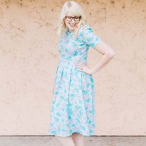 LuLaRoe Dresses & Skirts - LuLaRoe Amelia Dress in Ladybug and Leaf Print
