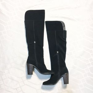 Dolce Vita Shoes - Black Suede Dolce Vita Knee High Boots MSRP $278