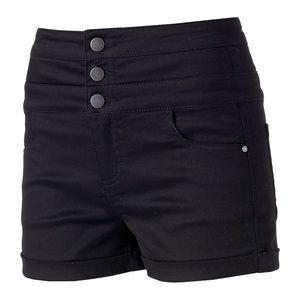 Tinseltown Pants - 🌿 Black High Waisted Shorts